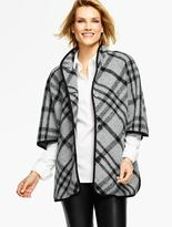 Talbots Stand-Collar Cape-London Plaid