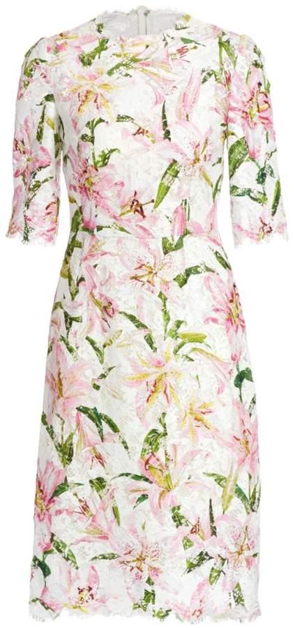 Dolce & Gabbana Lily Lace Sheath Dress
