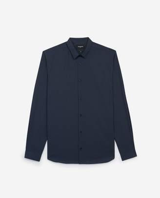 The Kooples Slim blue cotton shirt, printed