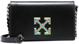 Off-White Jitney 0.5 Twist leather crossbody bag