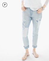 Chico's Patchwork Girlfriend Ankle Jeans