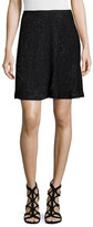 Halston Embellished A-Line Skirt, Black