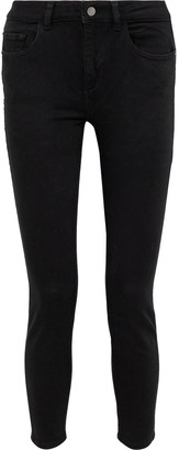 DL1961 Taylor Cropped Mid-rise Skinny Jeans
