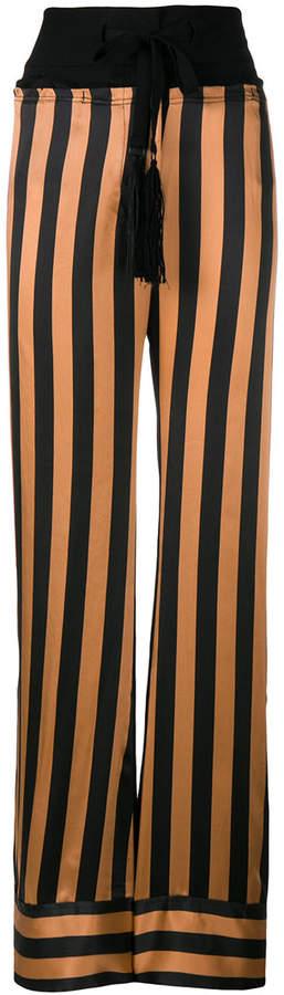 Ann Demeulemeester striped wide-leg trousers
