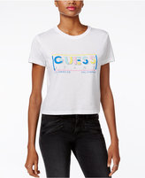 GUESS Nicole Retro Logo Cropped T-Shirt