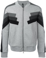 Neil Barrett panelled zip cardigan - men - Cotton/Polyurethane/Spandex/Elastane/Viscose - M