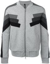 Neil Barrett zip-up knitted sweater - men - Cotton/Polyurethane/Spandex/Elastane/Viscose - M