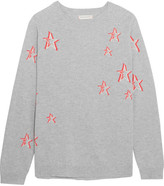 Chinti and Parker 3d Star Oversized Cashmere Sweater - Gray