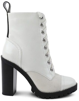 BCBGeneration Pauline Faux Leather Combat Booties