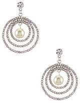 Cezanne Faux-Pearl Orbital Drop Earrings