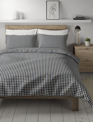 Marks and Spencer Brushed Cotton Gingham Bedding Set