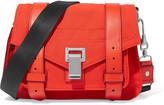 Proenza Schouler PS1 Pouch leather-trimmed faille shoulder bag