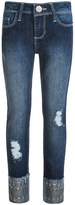 Blue Spice Distressed Studded-Cuff Jeans (For Big Girls)