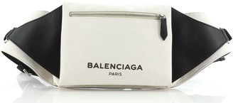 Balenciaga Navy Neo Lift Waist Bag Canvas and Leather