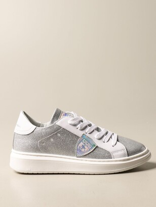 Philippe Model Temple Sneakers In Leather And Glitter