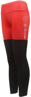 Women's Red Wisconsin Badgers Polyester and Sweater Combo Leggings