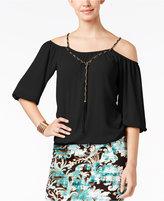 Thalia Sodi Cold-Shoulder Blouse, Only at Macy's