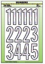 """Hy-Ko 3\"""" SLV Back Number Set"""