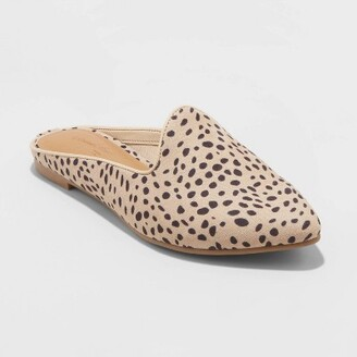 Women's Faux Leather Printed Mules - Universal ThreadTM