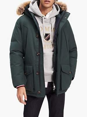 Tommy Hilfiger Down-Filled Parka Jacket, Darkest Spruce