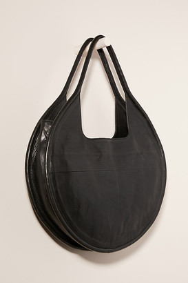 Anthropologie Julien Leather Tote Bag By in Black Size ALL