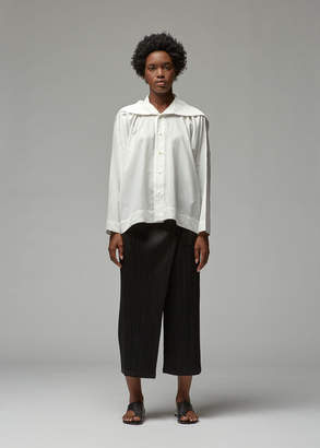 Issey Miyake Long Sleeve Pleats Collar Shirt