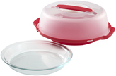 Pyrex Red Portable 9'' Pie Plate Set