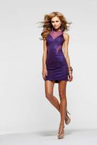 Faviana 7210 Illusion Bateau Sheath Dress