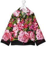 Dolce & Gabbana rose print shirt - kids - Silk - 6 yrs