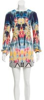Twelfth Street By Cynthia Vincent Watercolor Print Silk Dress