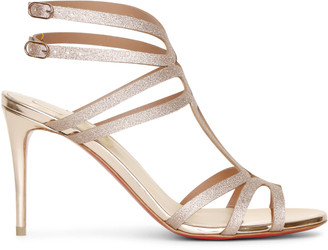 Christian Louboutin Renee 85 glitter courtisane sandals