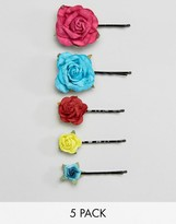 Asos Pack of 5 Paper Flower Hair Clips