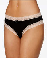 Jenni by Jennifer Moore Cotton Cheeky Lace-Trim Hipster, Only at Macy's