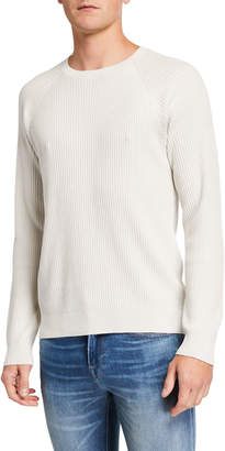 Vince Men's Textured Long-Sleeve Cotton Pullover
