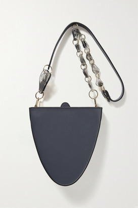 NATURAE SACRA Cyssus Leather And Resin Shoulder Bag - Anthracite