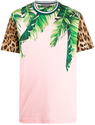 Dolce & Gabbana tropical animal print T-shirt
