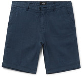 HUGO BOSS Washed-Linen Shorts