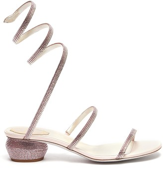 Rene Caovilla Cleo' strass coil anklet ball heel sandals