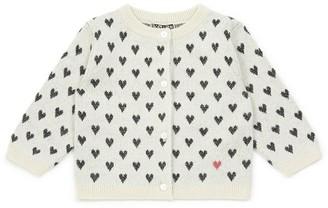 Bonton Jacquard Heart Cardigan (6-36 Months)