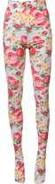 Comme des Garcons floral print stockings - women - Polyester/Polyurethane - S