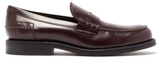 Tod's Leather Penny Loafers - Mens - Light Brown