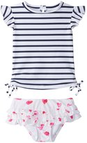 Snapper Rock Girls' Watercolor Hearts Tankini Set (3mos3T) - 8155092