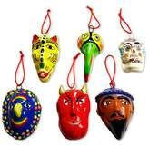Ceramic masks (Set of 6), 'Ancestral'