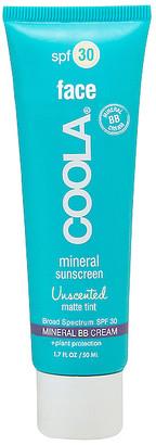 Coola Mineral Face SPF 30 Unscented Matte Tint BB Cream