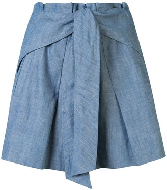 3.1 Phillip Lim Belted Pussybow Shorts