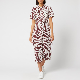 Whistles Women's Graphic Zebra Shirt Dress
