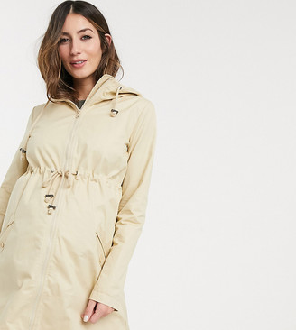 Mama Licious Mamalicious Maternity parka with nursing combination function in beige