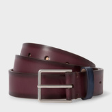 Paul Smith Men's Brown Burnished Leather Belt