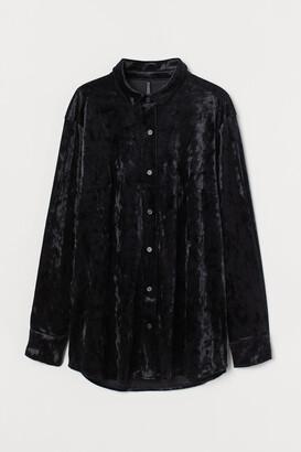 H&M Velvet shirt