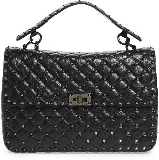 Valentino Garavani Rockstud Leather Top Handle Satchel